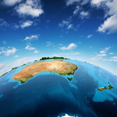 Austrálie a Nový Zéland.
