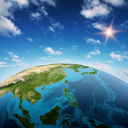 東南アジア、オセアニア地域。