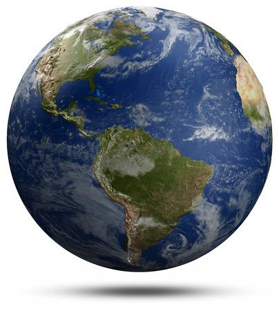 weather map: Earth globe.  Stock Photo