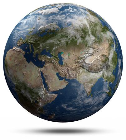 real world: Earth globe - Eurasia.