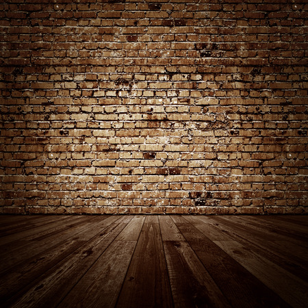 wood textures: Vintage brickwall room. All textures created by me