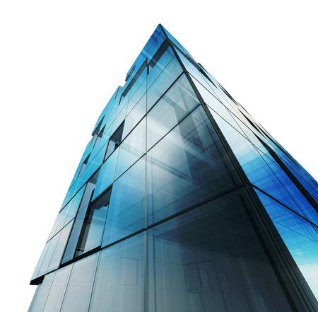 Abstraktes Gebäudeweiß Lokalisiert. Gebäudedesign Und 3D Modell Mein Eigenes  Photo