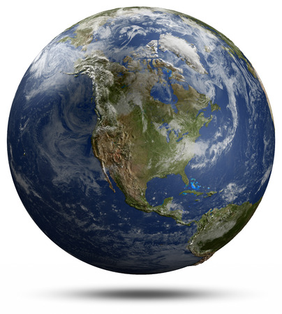 displace: Earth globe - North America. Elements of this image furnished by NASA Stock Photo