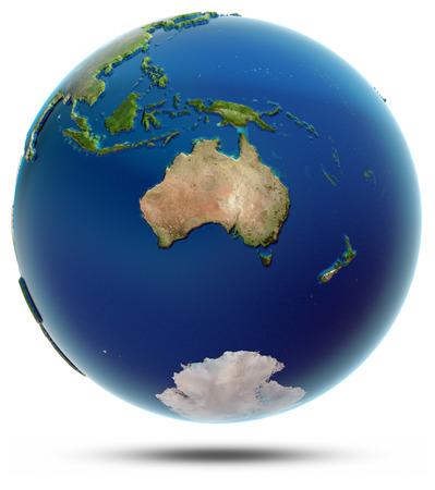 Globo do mundo - Oceania. Imagens