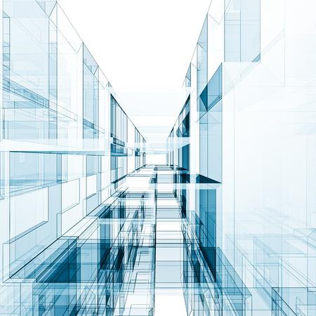 architecture design: Abstract architecture. Architecture design and 3d model