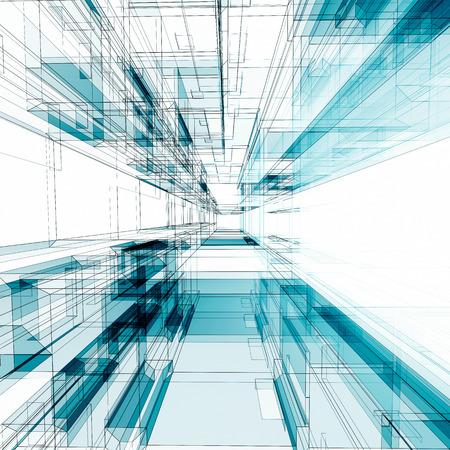architecture design: Simple tunnel. Architecture design and 3d model