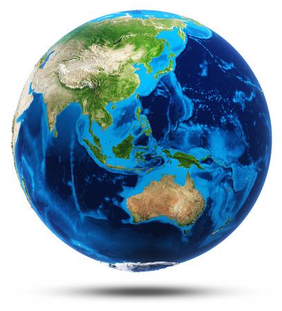Austrálie a jihovýchodní Asie real hory úleva