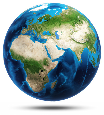 Earth africa map Banco de Imagens