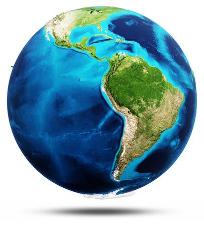 America Earth globe model