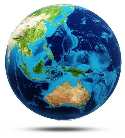 Asia earth globe model