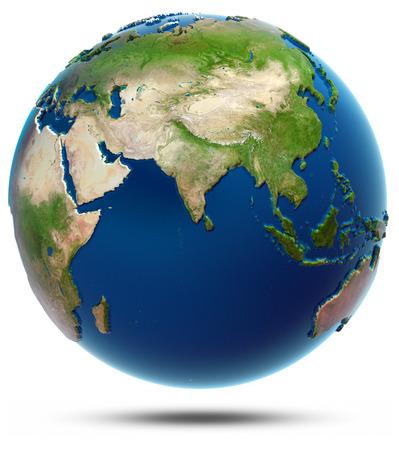 india 3d: World map - Indian Ocean