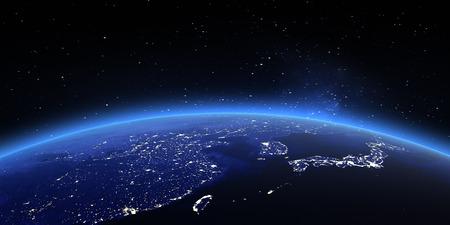 China and Japan.  Standard-Bild