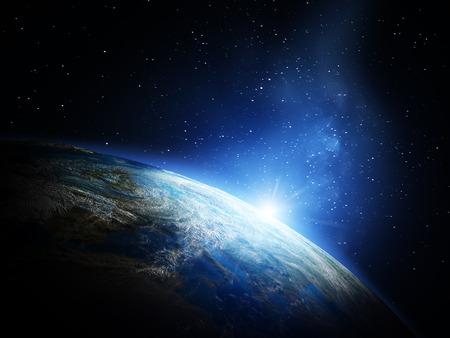 スペースからの地球。