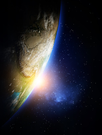 Planet from space.  Stock Photo