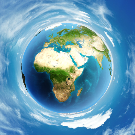 atmosphere: World atmosphere day globe. Stock Photo