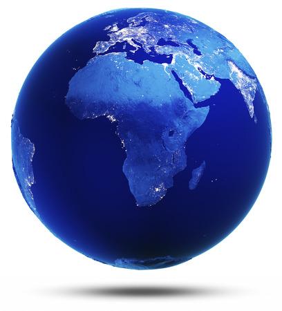 Planet verändert reflektiert 3d Render. Standard-Bild
