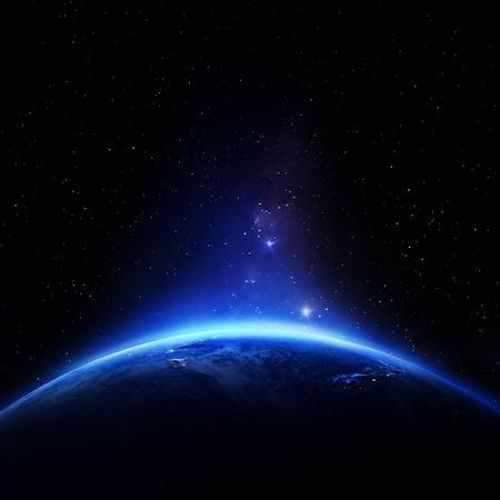 호주와 뉴질랜드. NASA가 제공 한이 이미지의 요소