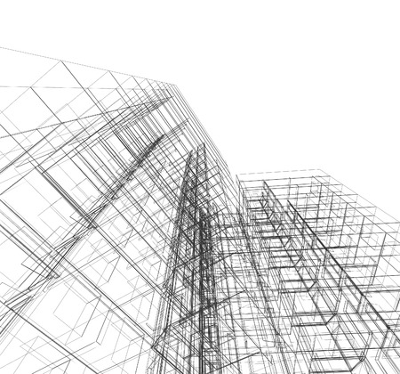 Construction architecture. Architecture design and model my own