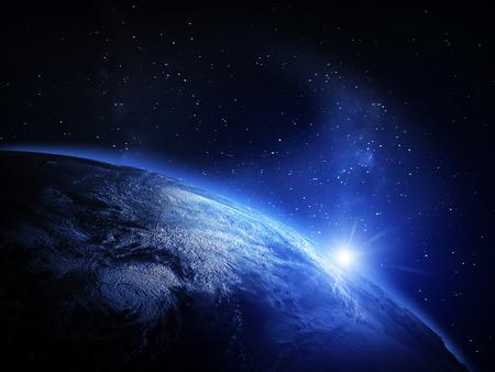 Aarde vanuit de ruimte. Stockfoto