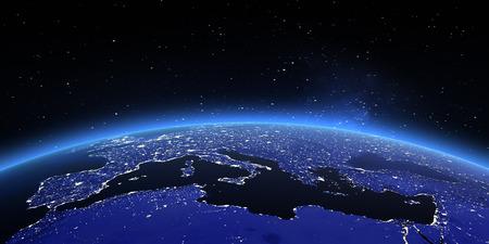 地球のヨーロッパ。 写真素材