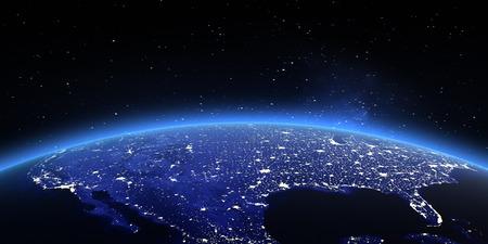 地球上のアメリカ合衆国。