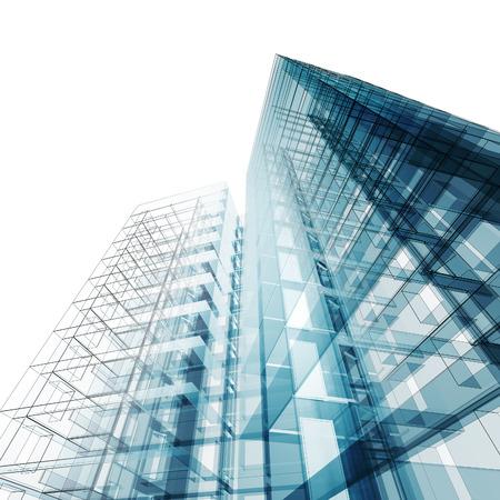 Abstrakte Gebäude. Architektur Und Design Modell Meiner Eigenen Photo