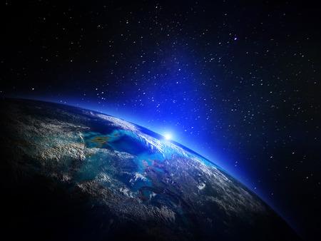 atmosfera: Planeta desde el espacio.
