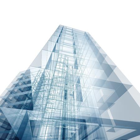 モダンな建物。アーキテクチャ設計し、自分のモデル