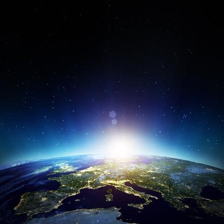 Europa. Los elementos de esta imagen proporcionada por la NASA Foto de archivo - 37426257