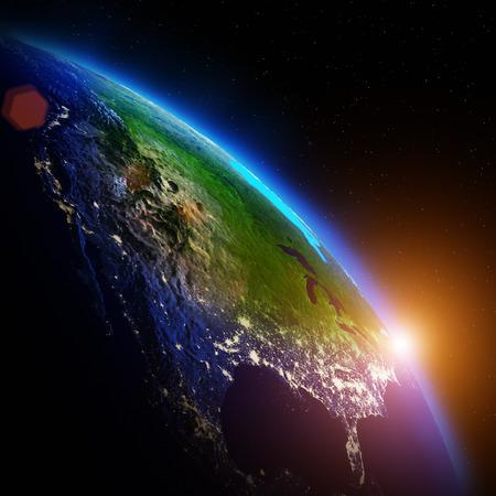 世界の地理学。