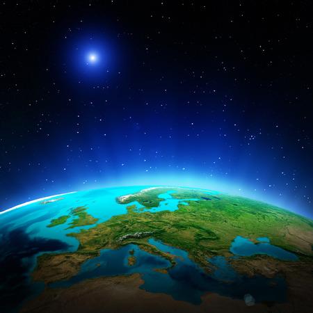 地球地図。 写真素材