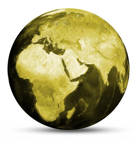yellow earth: Earth yellow map.