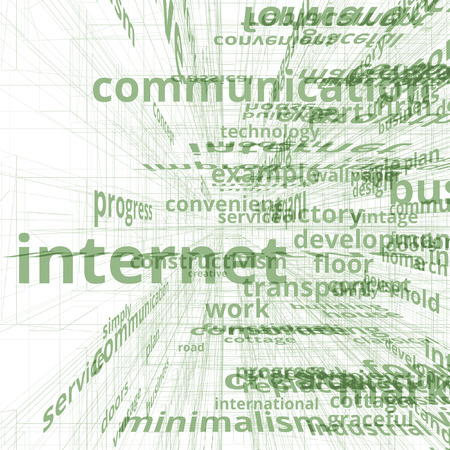 business communication: Communication business text image concept