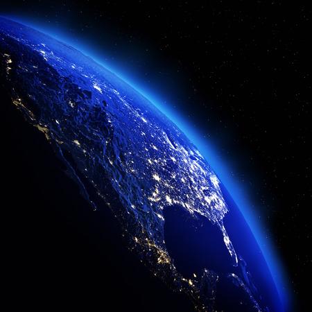globe earth: United States.
