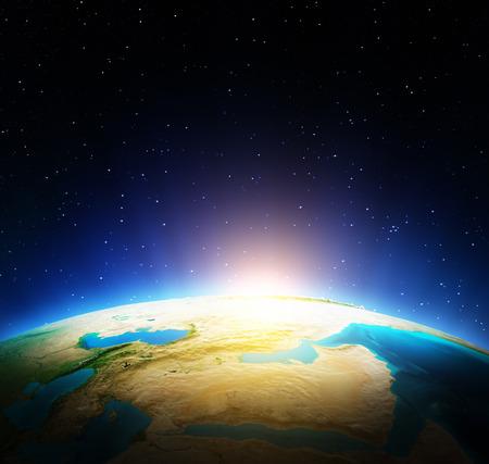 Mapa světa. Reklamní fotografie