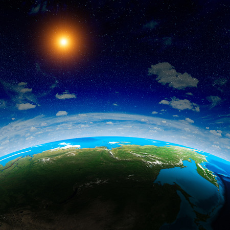 passages: Planet from space.   Stock Photo