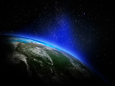 Terra dallo spazio Archivio Fotografico - 38613698