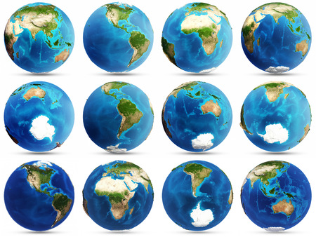 Conjunto Planeta Tierra Foto de archivo - 38613699