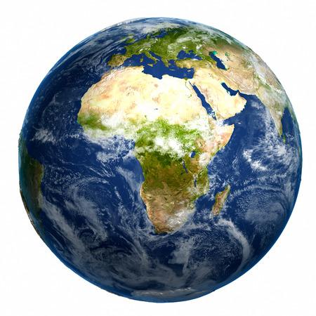 Terra globo mappa Archivio Fotografico - 38613245