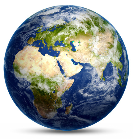 Planet world. Elements of this image furnished by NASA