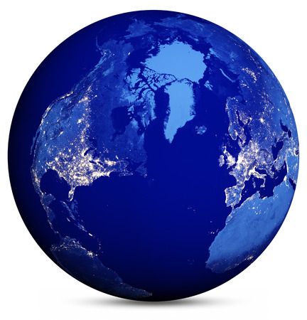 maps globes: Earth globe Stock Photo