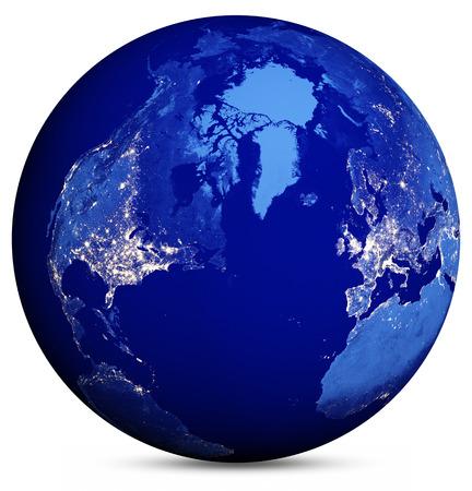 Earth-Globus Standard-Bild