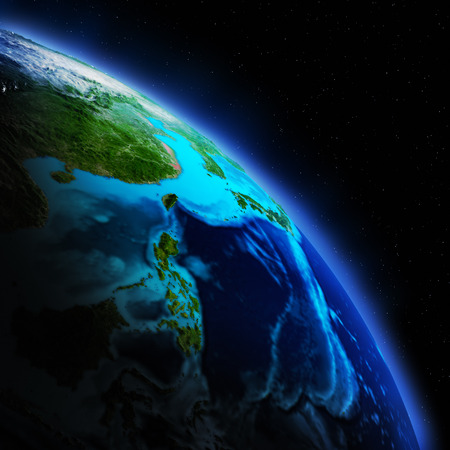 south space: Earth continent
