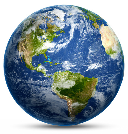 globo terraqueo: Mundo Planet. Los elementos de esta imagen proporcionada por la NASA