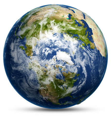 Earth globe map. Elements of this image furnished by NASA Standard-Bild