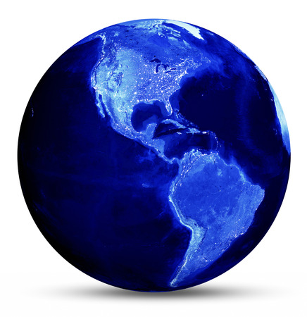 passages: Earth blue map
