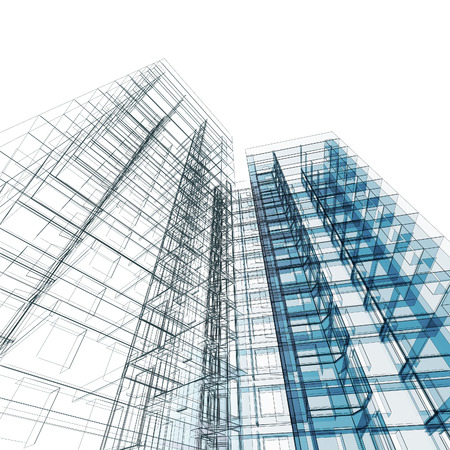 Charming Modernes Gebäude. Architektur Design Und Modell Meiner Eigenen  Standard Bild   38613085