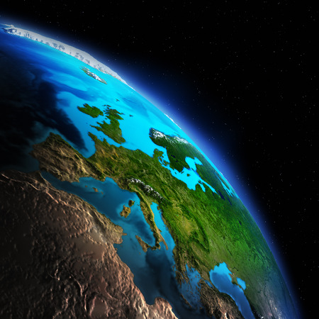 south space: Earth from space. Elements of this image