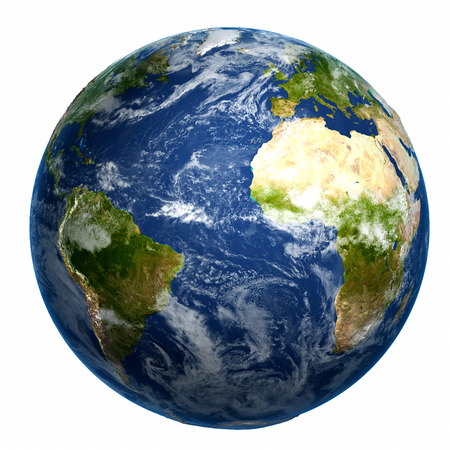 Earth globe. Elements of this image furnished