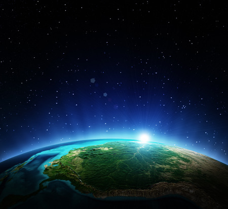 Earth from space. 스톡 콘텐츠